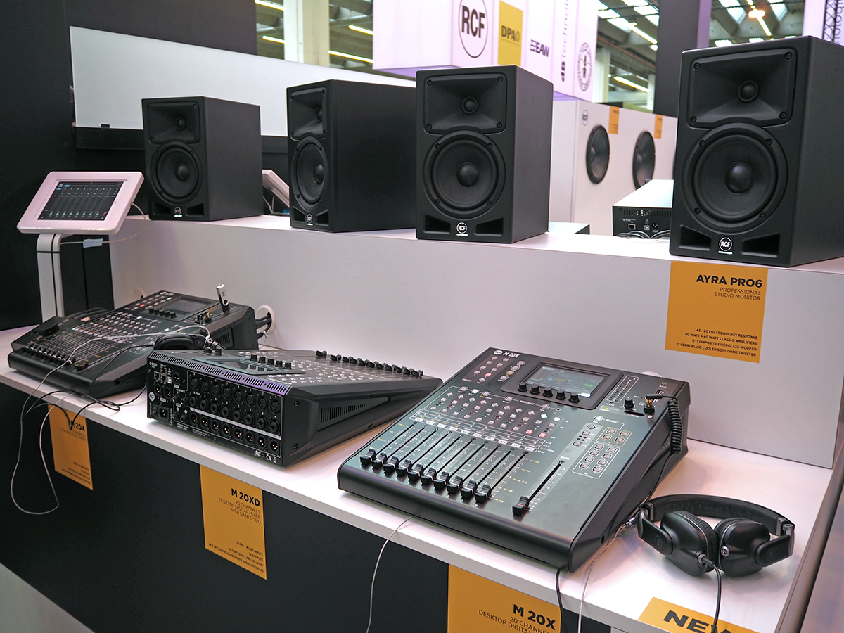 rcf expands digital mixer and recording program with new m 20 series audioxpress. Black Bedroom Furniture Sets. Home Design Ideas