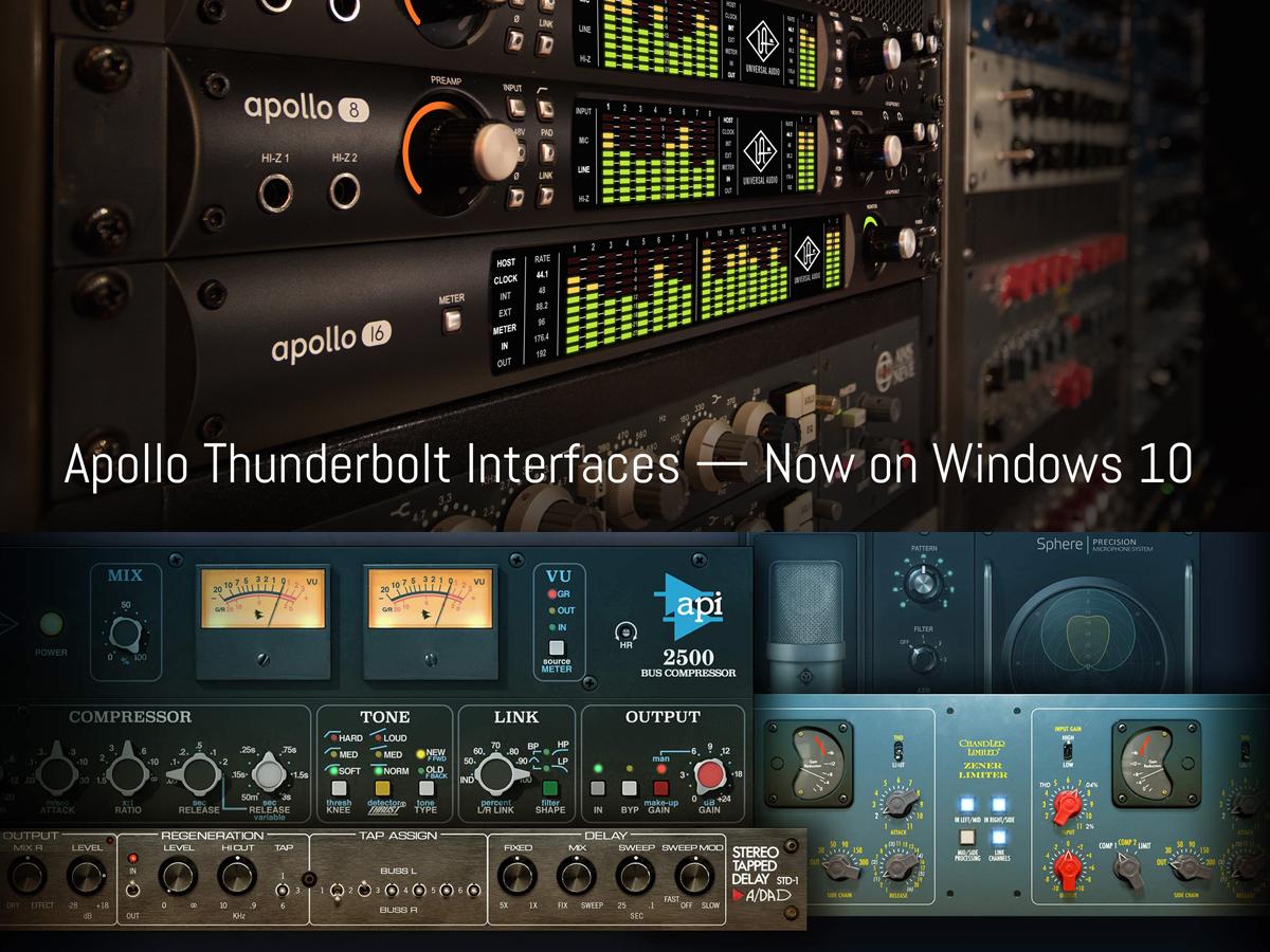 Universal Audio Announces Thunderbolt Compatibility For ...