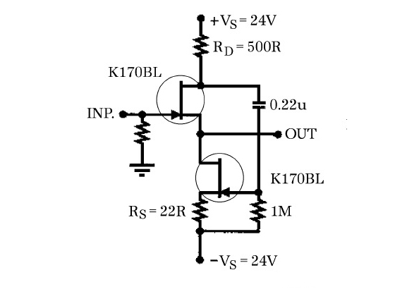 jfets the new frontier, part 2 audioxpressfigure 16a these source follower circuits can drive low impedance loads with very low thd