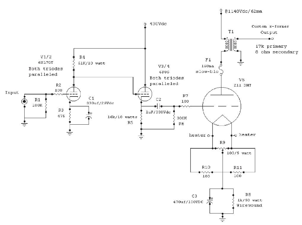 a 211 se triode amp audioxpress