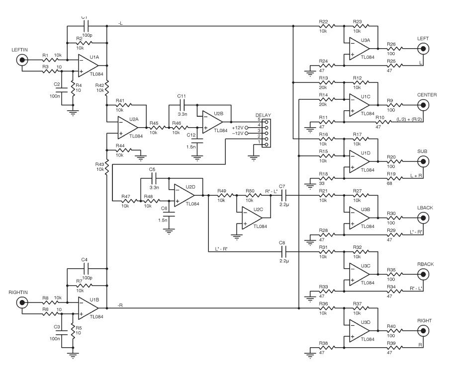 build a passive surround sound decoder audioxpress rh audioxpress com