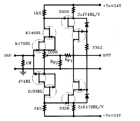 opamp notch filter adjustable q circuit diagram