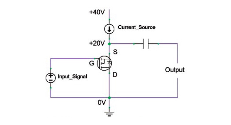 a hybrid valve mosfet se amp complete project audioxpressfigure 2 source follower (or common drain)