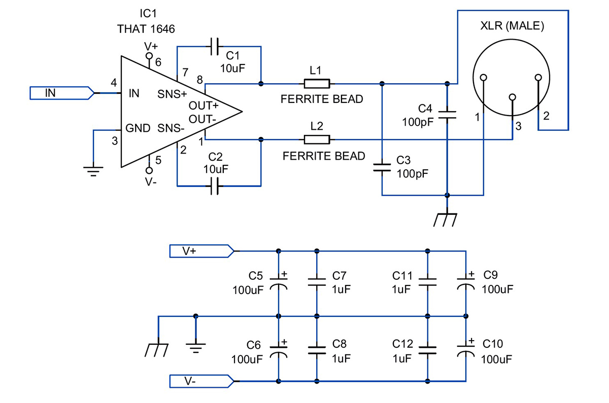 Electric Guitar Preamp Mixer And Line Driver Eeweb Community
