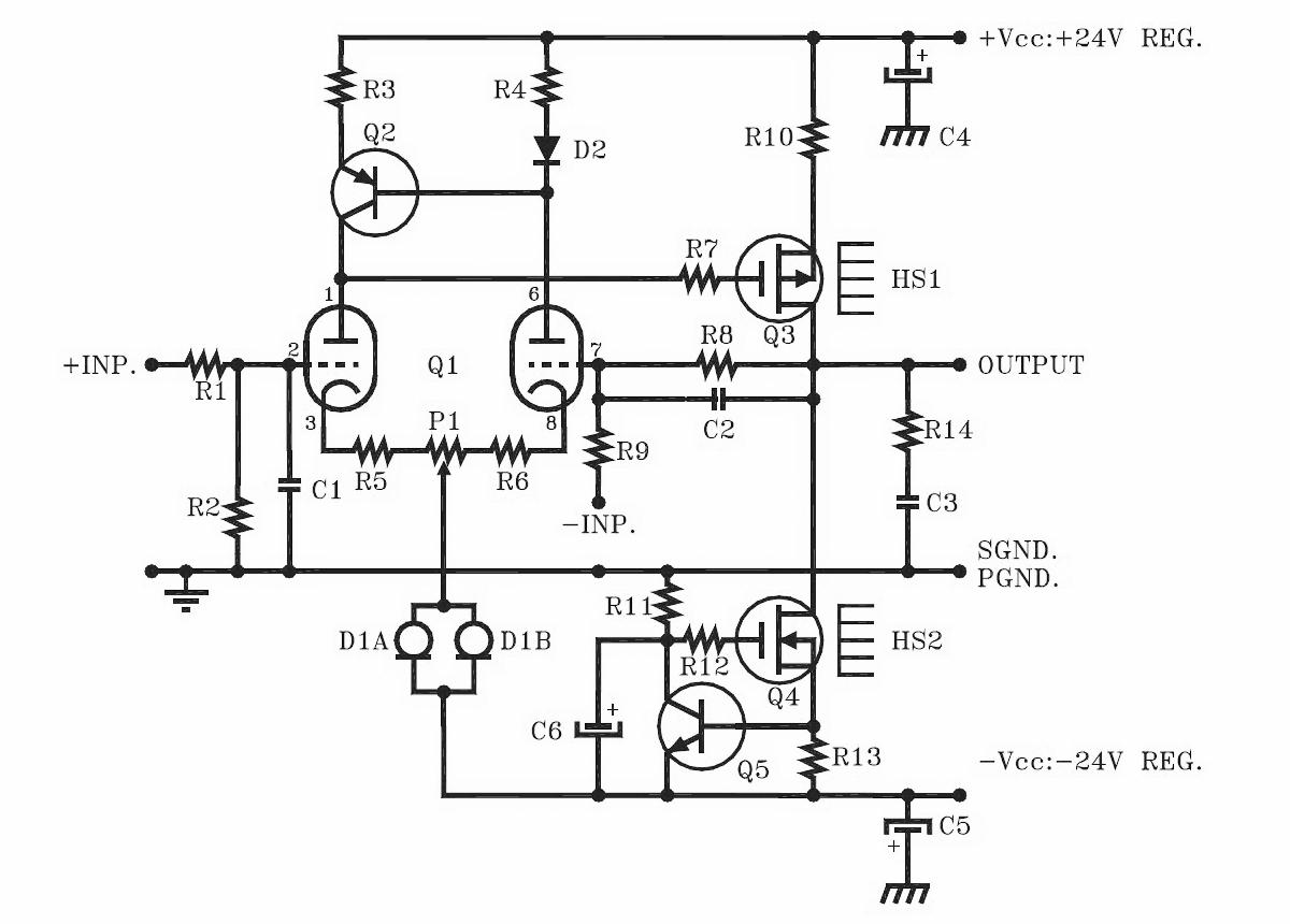 install class a amplifier circuit diagram