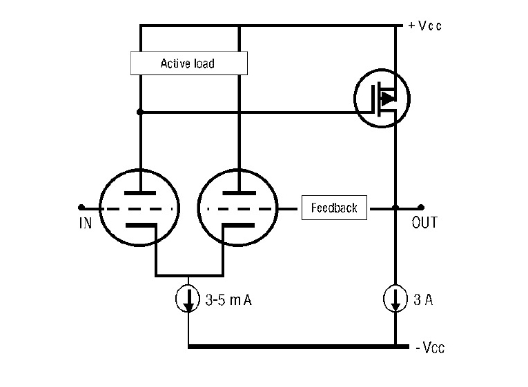 hybrid tube amp circuit