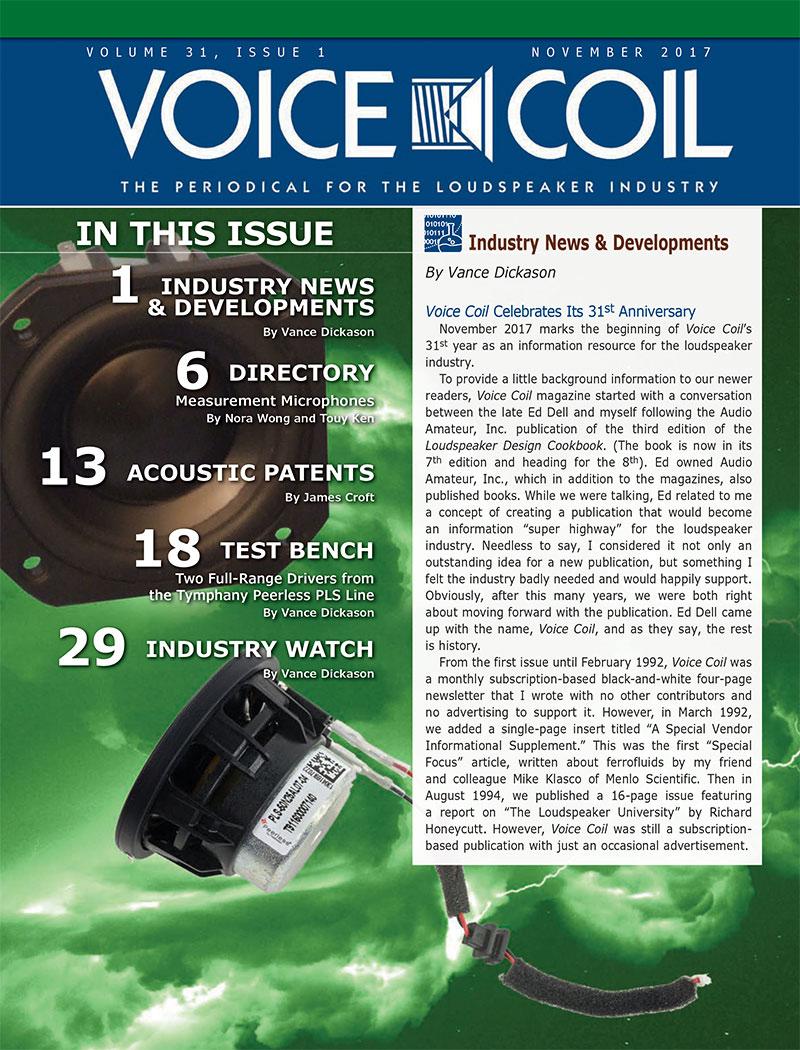 Voice Coil November 2017