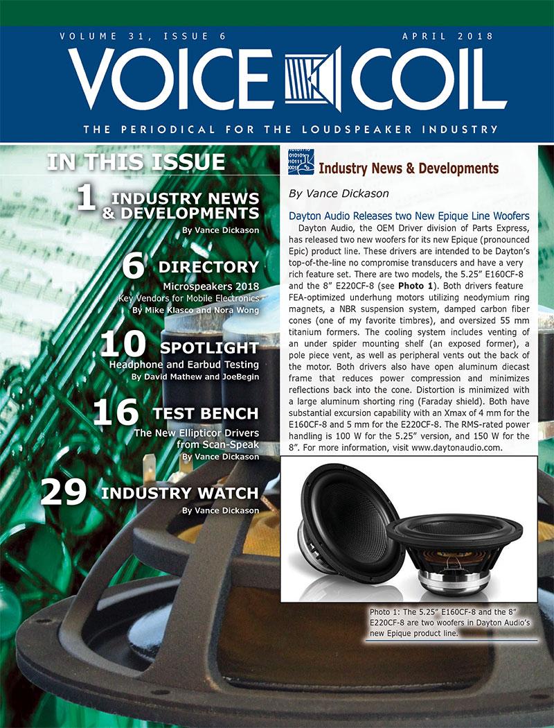 Voice Coil April 2018