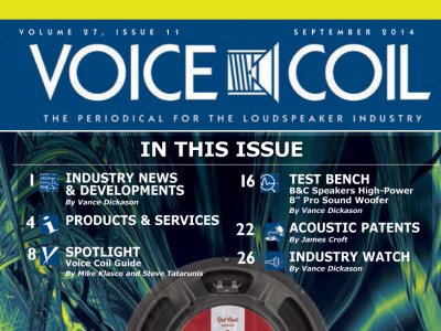 The September 2014 edition of Voice Coil is now available