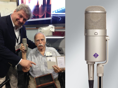 Neumann Presents U47 FET Microphone to Bruce Swedien