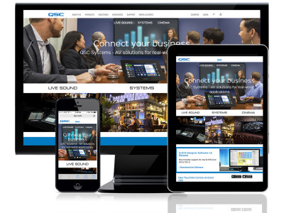 QSC Debuts New Improved Website with Enhanced Features, Navigation and Content Structure