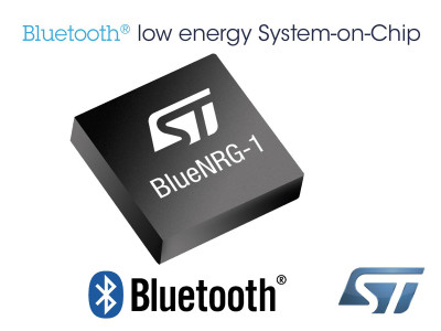 STMicroelectronics Powers Lower Power Projects with New BlueNRG-1 System-on-Chip