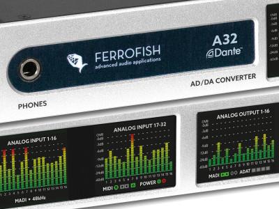 Ferrofish A32 Dante AD/DA Converter Now Available