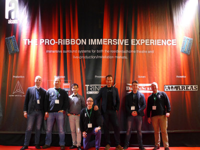 Alcons Pro-Ribbon Immersive Experience at ISE 2017 Shows Full Potential of Immersive Audio Formats