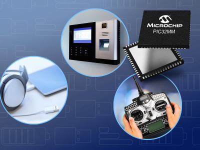 Microchip Extends eXtreme Low Power PIC32MM Microcontroller Family with USB Support