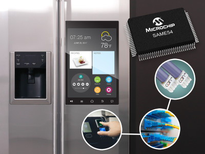 Microchip Launches New SAM Microcontroller 32-bit Families with Extensive Connectivity Interface Options
