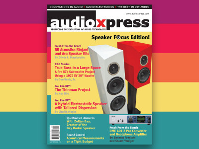 Your Speaker Focus Edition of audioXpress Is Now Served!