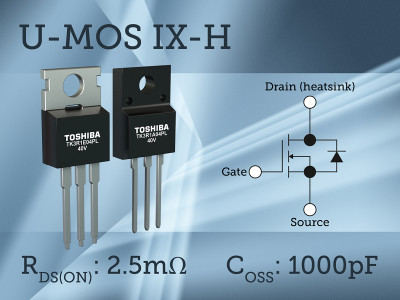 Toshiba Expands U-MOS IX-H MOSFET Family with 40V N-Channel Devices