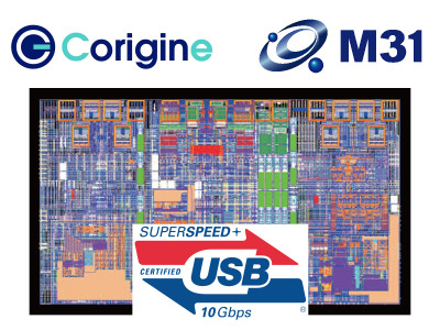 Corigine Unveils First Certified SuperSpeed+ USB 3.1 Gen 2 IP with M31 28nm PHY