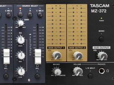TASCAM Unveils New MZ-Series Rack-Mount Mixers