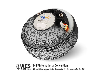 Faital Presents FEM Thermal Model of a Compression Driver at AES Convention in Milan