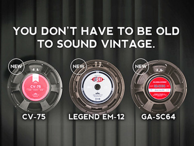 Three New Eminence Guitar Speakers for Vintage Sounds