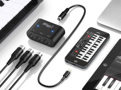IK Multimedia Releases iRig MIDI 2 Portable Interface with Lightning Connector