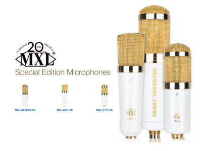 MXL Celebrates 20th Anniversary with Gold Microphones