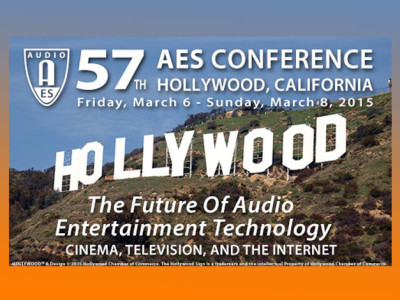 Audio Engineering Society to Host 57th International Conference on the Future of Audio Entertainment Technology