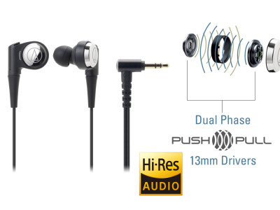 New Audio-Technica SonicPro In-Ear Headphones with Push-Pull Driver System