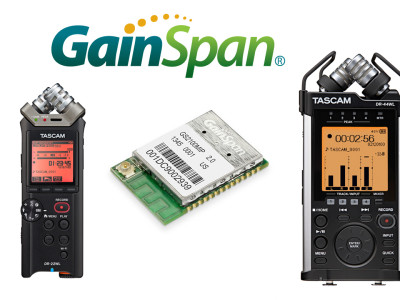 GainSpan Technology Powers Tascam's DR-22WL and DR-44WL Portable Recorders with Wi-Fi