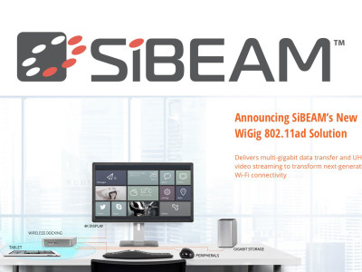 SiBEAM Expands Gigabit Wireless Portfolio with New WiGig 802.11ad Solution