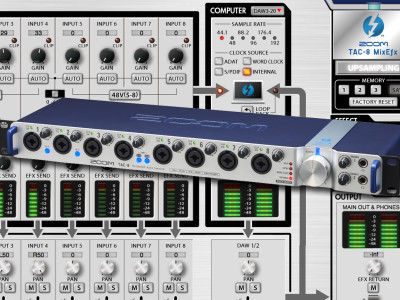 New Zoom TAC-8 Multichannel Interface Brings Thunderbolt to the Masses