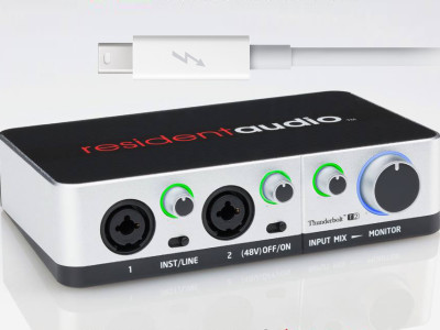 Resident Audio Thunderbolt T2 Audio Interface Now Available