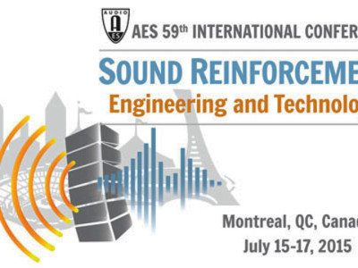 59th AES Conference on Sound Reinforcement, July 15-17, 2015