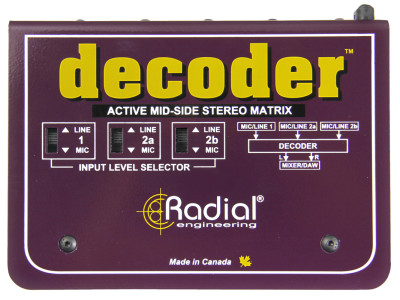 Radial Decoder Mid-Side Interface Expands Recording Creativity