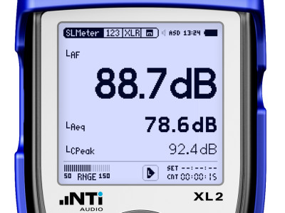 "NTi Audio Introduces ""Locked Run"" Mode for XL2 Sound Level Meter"