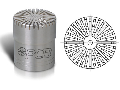 PCB Piezotronics Introduces High Amplitude and High Frequency 1/2 Inch Free-field Measurement Microphone