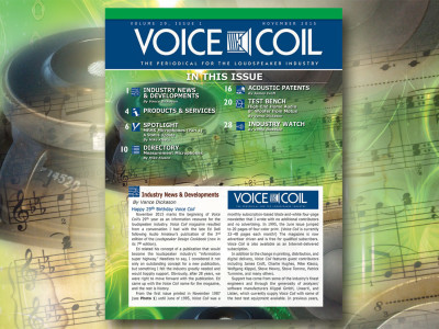 Voice Coil November 2015 Issue is Online. Let's Celebrate!