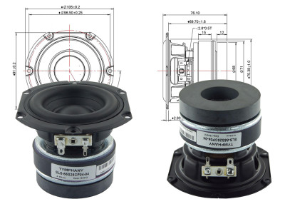 "Test Bench - Tymphany Peerless SLS-85S25CP-04-04 3.5"" Woofer"