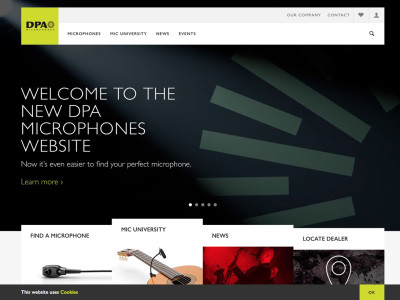 DPA Microphones Launches New Website With New Mic Finder