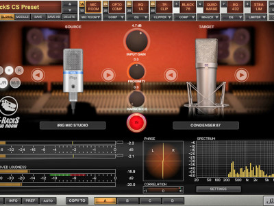 IK Multimedia Releases T-RackS Mic Room Professional Studio Microphone Modeling Tool for Mac/PC