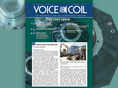 Voice Coil January 2016 is Now Available. Here's to Another Great Year!