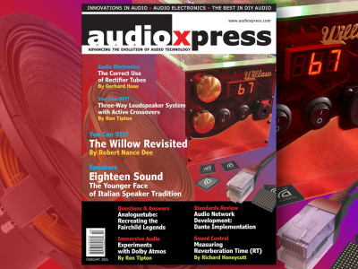 Must Read for Audio Designers: audioXpress February 2016 Now Available