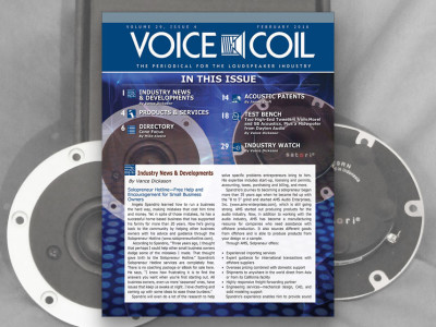 Serious About Speakers: Voice Coil February 2016 is Now Available