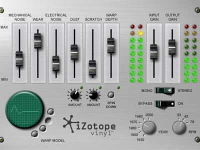 iZotope Celebrates 15th Birthday with 64-bit Version of Free Vinyl Plug-in