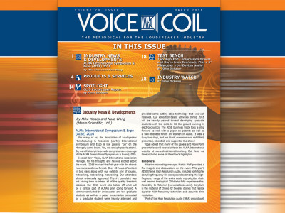 ALMA, Eminence, Dayton Audio and Much More - Voice Coil March 2016 Is Ready for Download