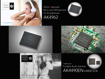 AKM Announces New Premium DAC and DSP Solutions for Premium Portable Audio Applications
