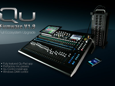 Allen & Heath Announces Major Updates to QU Series Mixers