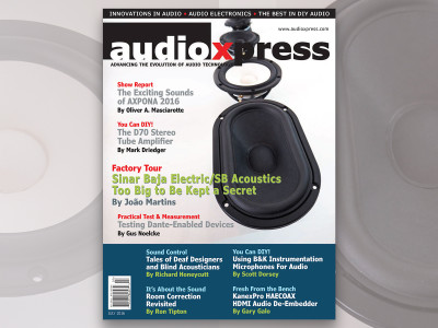 audioXpress July 2016 Now Available for Download, Directly from the Speaker Factory to Your Hands